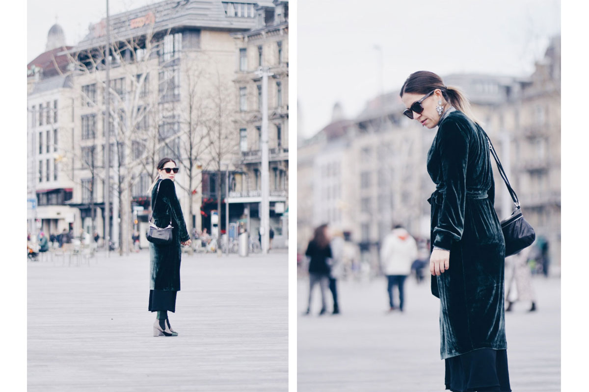 Look of the week: Layers in Green, Gray and Black