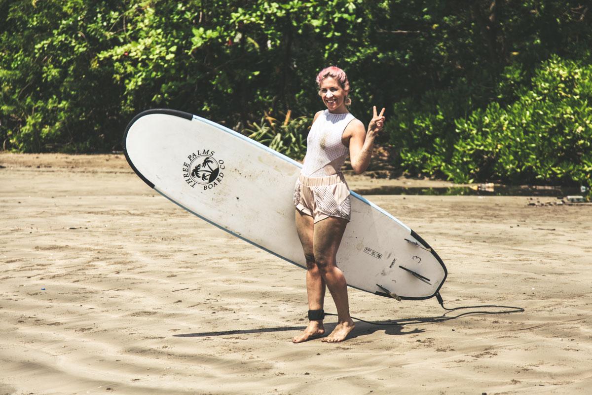 Sonne, Yoga und Surfen