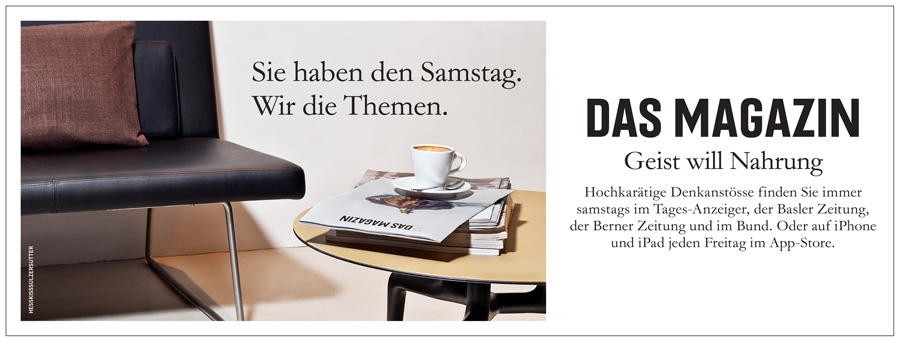 """Werbung für """"Das Magazin"""""""