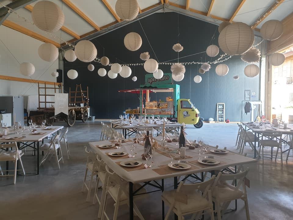 Streetfood-Piaggio an einer Hochzeit