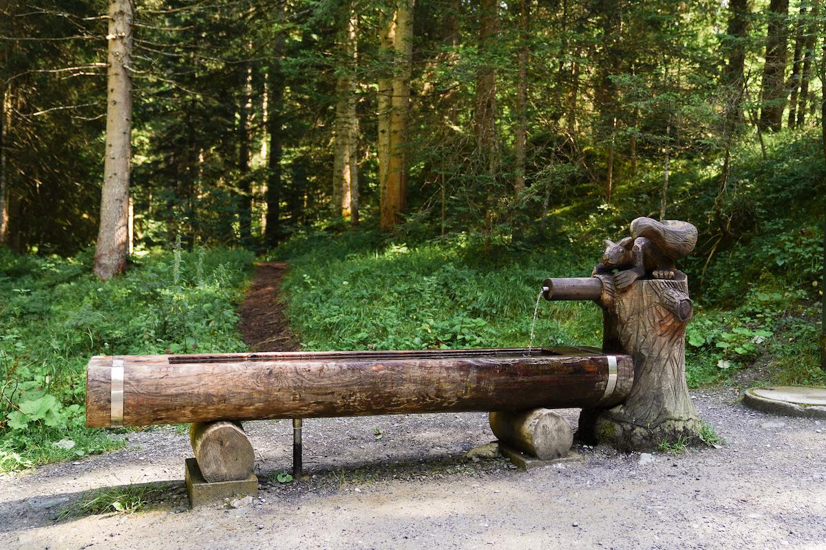 Trinkbrunnen Wanderung Caumasee